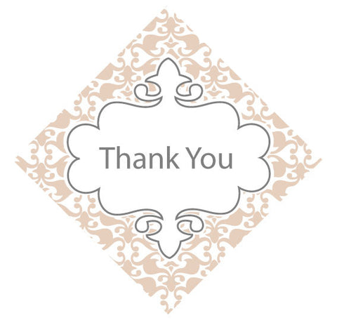 Vintage Thank You tag for Wedding Favours (108350412)