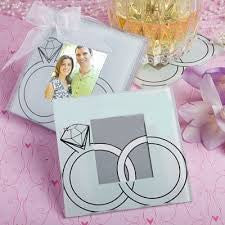 With This Ring Frame Glass Coaster