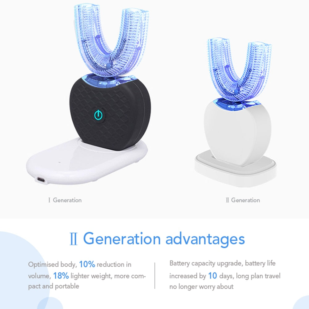 360 Degrees Automatic Ultrasonic Electrionic Toothbrush