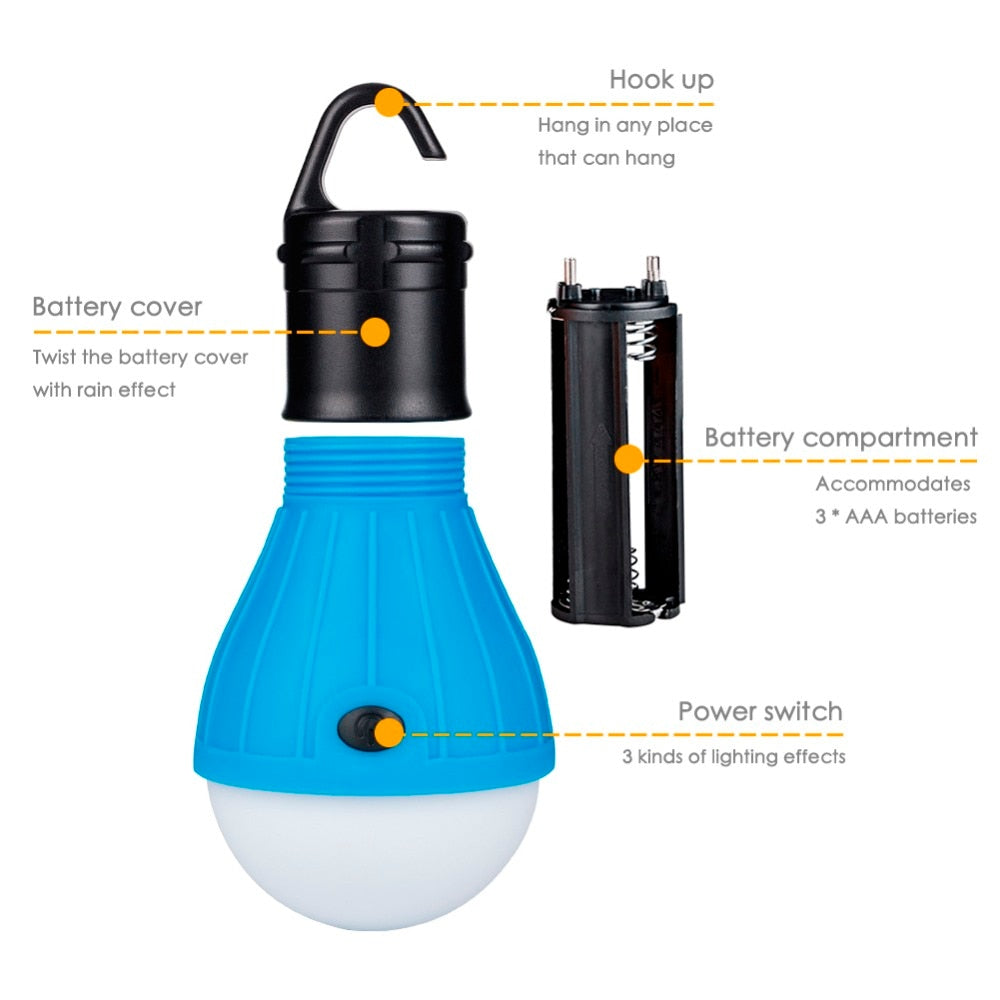 Camping LED Light - Perfect for ALL Outdoor & Indoor Activities