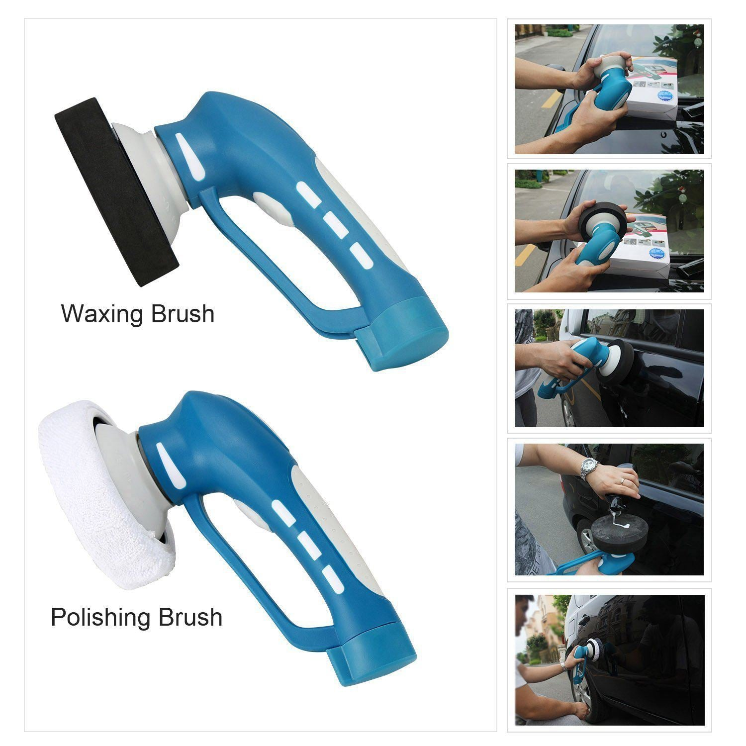 Cordless Electric Car Polisher - Complete Set of Three