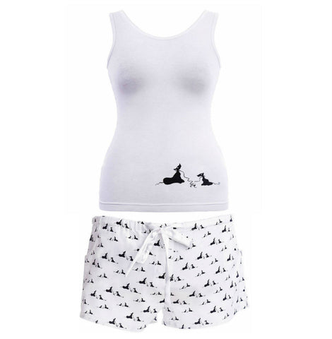 Vest and Shorts Pyjama Set in Pooch