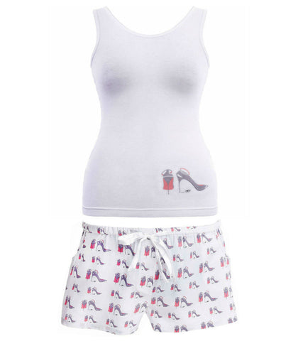 Vest and Shorts Pyjama Set in Shoe