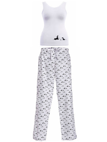 Vest and Long Pants Pyjama Set in Pooch