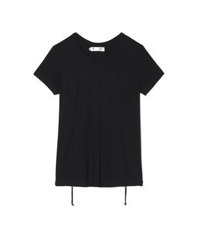 Black T-shirt With Drawstrings