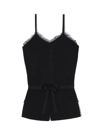 Short Playsuit with Lace