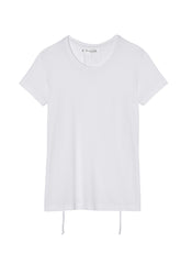 White T-shirt With Drawstrings