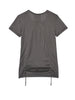 Grey T-shirt With Drawstrings
