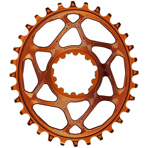 Absolute Black SRAM GXP/DUBB DM BOOST CHAINRING - OVAL - ORANGE