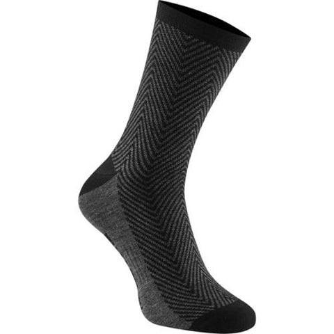 Madison Assynt Merino Long Black Herringbone Socks