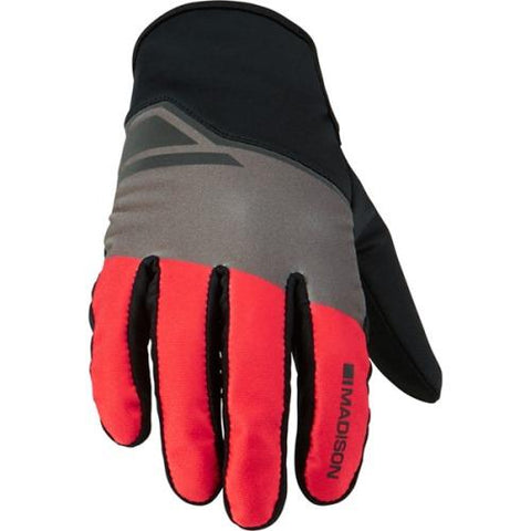 Madison Sprint Mens Red Block Glove Front