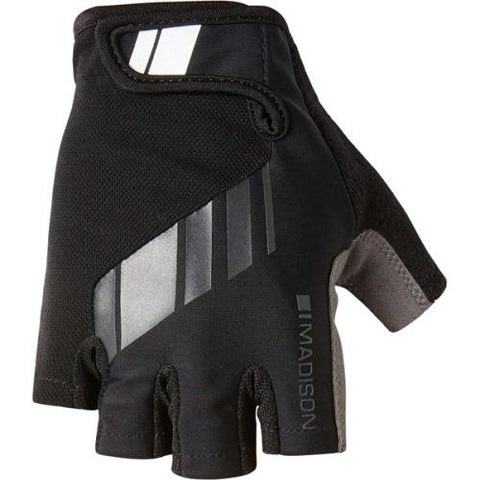Madison Peloton Mens Black Mitts Front