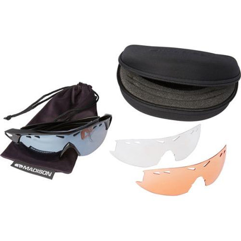 Madison Recon 3 Lens Kit Gloss Black Frame - Silver Mirror/Amber/Clear Lens