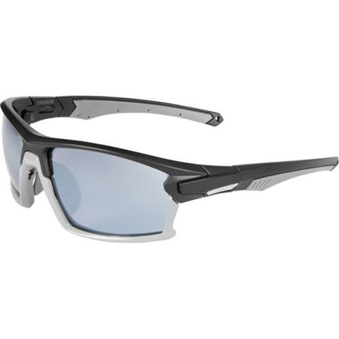 Madison Engage Glasses Matt Black / Gloss Cloud Grey Frame - Silver Mirror Lens