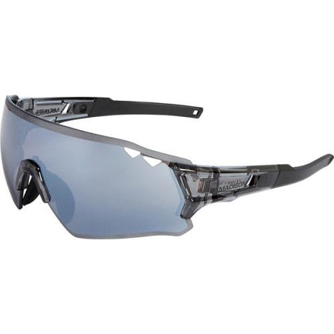 Madison Stealth Glasses Gloss Smoke Crystal Frame - Silver Mirror Lens