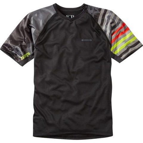 Madison Zenith Mens Short Sleeve Black/Phantom Jersey Front