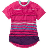 Madison Zena Womens Short Sleeve Rose Red Jersey Front