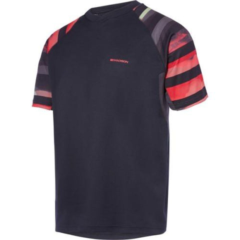 Madison Zenith Mens Haze Black Short Sleeve Jersey Front