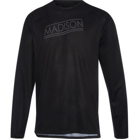 Madison Flux Mens Long Sleeve Jersey Marble  Black Front