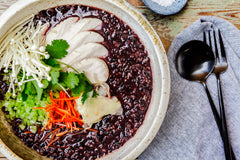 Congee Black Rice by The Wandering Chef