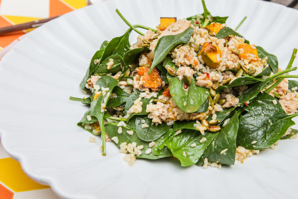 Best Recipe for Organic Brown Rice and Tuna, Spinach & Pumpkin by Forbidden Foods