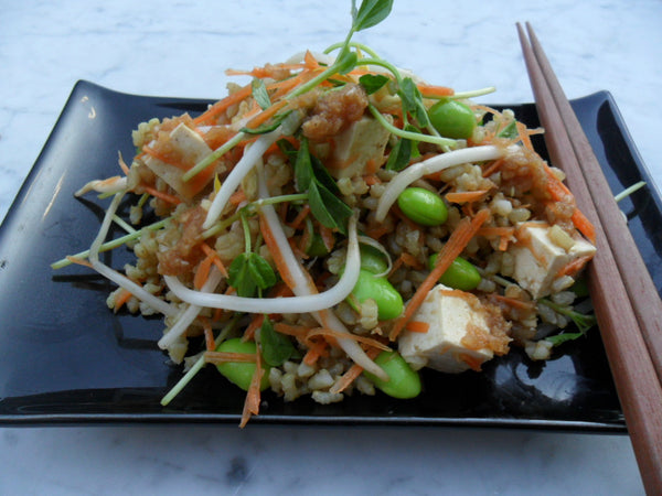 Japanese Green Rice Salad