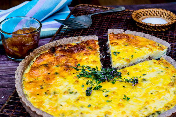 Gruyère Quiche With Red Rice Gluten Free Base