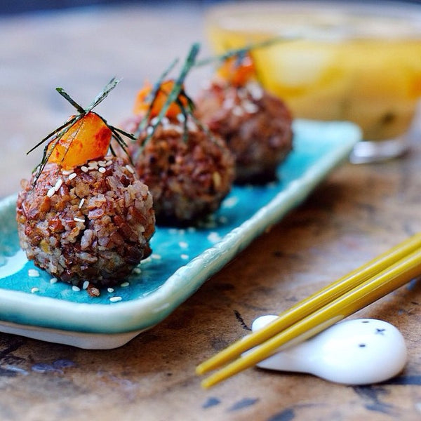 Red Rice Oigiri Japanese Balls