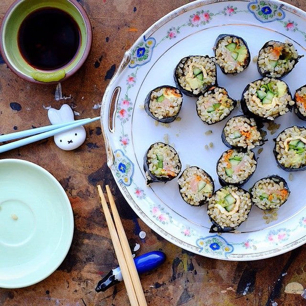 Green Rice Sushi by Foodies Digest