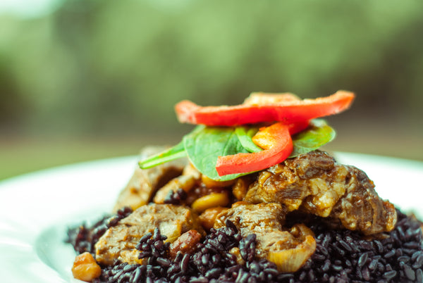 Lamb & Back Rice with Beans Recipe