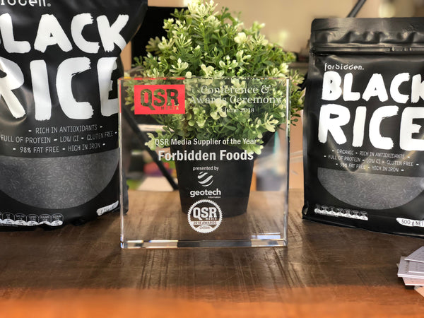 Forbidden Foods QSR Media Award 2018