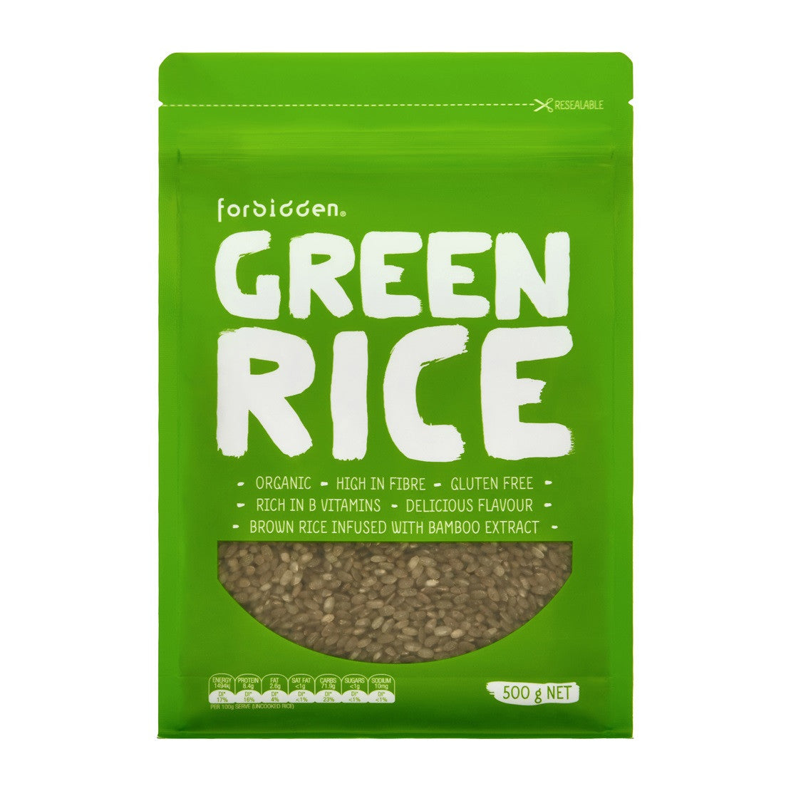 Forbidden Organic Green Rice with Bamboo