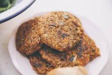 Red Rice Vegan Patties - Yum!