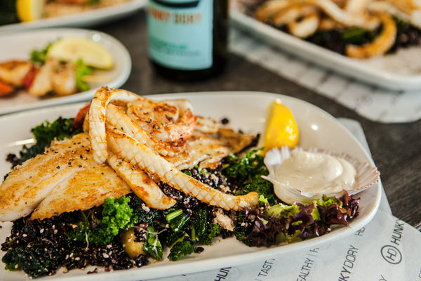 Top Calamari in Melbourne with Superfood Salad