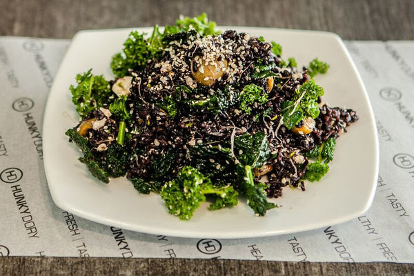 Black Rice Kale Salad at Hunky Dory South Melbourne
