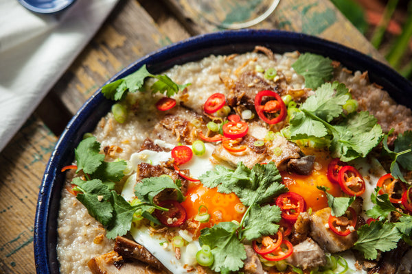 Pork Belly Egg and Brown Rice Congee Recipe