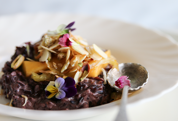 Black Rice Bircher Pudding