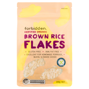 Forbidden Organic Gluten Free Brown Rice Flakes 300g [NEW!]