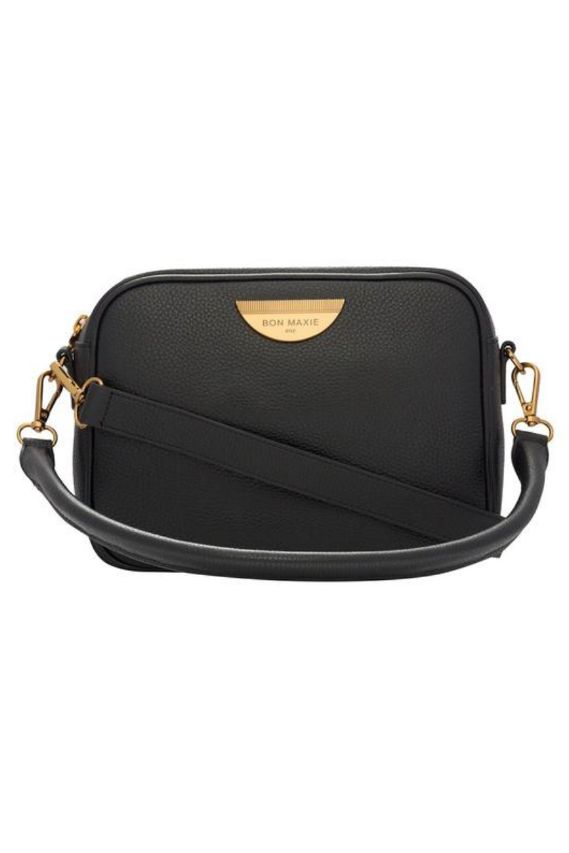 Sidekick Crossbody Bag - Black/Antique Gold