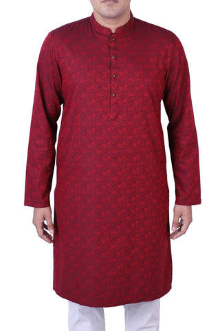 MENS PANJABI WINE BERRY
