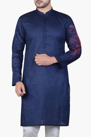 MENS PANJABI INK BLUE