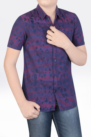 Junior Boy's Shirt RED PURPLE (10-15 years)