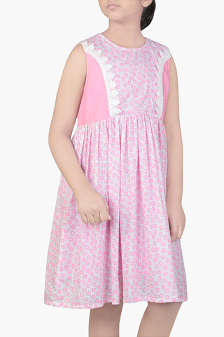 GIRLS DRESS PINK (6-9 Years)