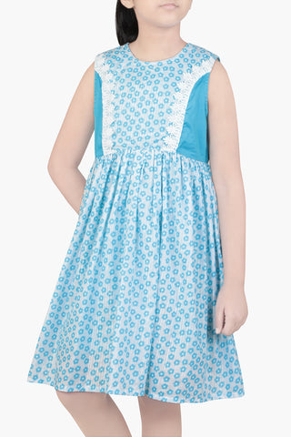 GIRLS DRESS BLUE (2-5 Years)