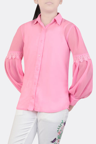 JUNIOR GIRL SHIRT LT PINK (10-15 YEARS)