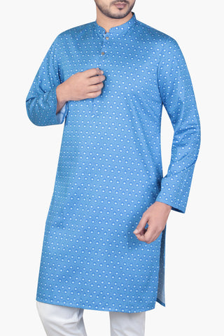 MENS PANJABI BLUE DEPTH