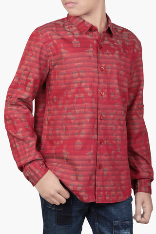 Junior Boy's Shirt Red (10-15 years)