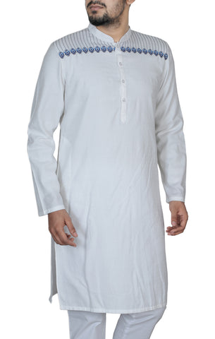 Men's Regular Fit Panjabi COTSKILL WHITE