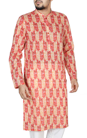 Men's Regular Fit Panjabi WILLIAM RED