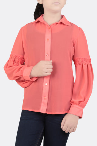 JUNIOR GIRL SHIRT CORAL (10-15 YEARS)